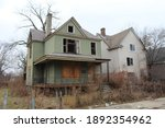 Two abanoned large  homes in Chicago