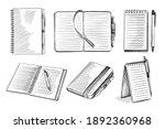 hand drawn sketch set of... | Shutterstock .eps vector #1892360968