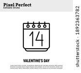 calendar with 14 february ...   Shutterstock .eps vector #1892363782