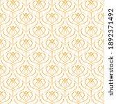 art deco seamless golden...   Shutterstock .eps vector #1892371492