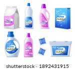 detergent pack with labels....   Shutterstock .eps vector #1892431915