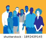 a team of happy young people...   Shutterstock .eps vector #1892439145