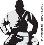 fighter on his knees jiu jitsu   Shutterstock .eps vector #1892451988
