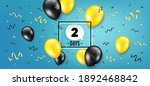 two days left icon. countdown...   Shutterstock .eps vector #1892468842