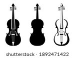 set of three black silhouettes... | Shutterstock .eps vector #1892471422