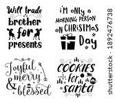 beautiful christmas calligraphy ... | Shutterstock . vector #1892476738