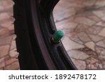 Green Motorcycle Tire Valve...