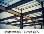 the steel frame  the half built ... | Shutterstock . vector #189251372