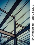 the steel frame  the half built ... | Shutterstock . vector #189251378