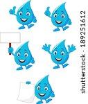 cartoon blue water collection...   Shutterstock .eps vector #189251612