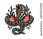 burning snake tattoo vector...   Shutterstock .eps vector #1892523598