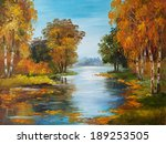 Oil Painting On Canvas   River...
