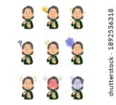 nine facial expressions of a...   Shutterstock .eps vector #1892536318