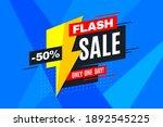 flash sale promotion banner ... | Shutterstock .eps vector #1892545225