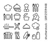 cooking related icon set.... | Shutterstock .eps vector #1892559448