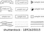 set of hand drawn frame...   Shutterstock .eps vector #1892635015