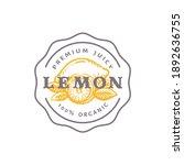 lemon badge or logo template....   Shutterstock .eps vector #1892636755