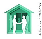 house building with business... | Shutterstock .eps vector #1892646775