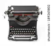 old typewriter on white... | Shutterstock . vector #189265802