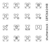 face recognition line icons set ... | Shutterstock .eps vector #1892661448