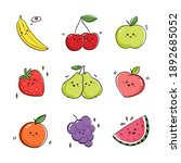 collection of fruits expressing ... | Shutterstock .eps vector #1892685052