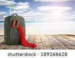 Summer Sun And Suitcase With...