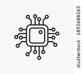 simple artificial intelligence... | Shutterstock .eps vector #1892688265
