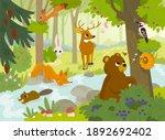 cartoon vector animals that... | Shutterstock .eps vector #1892692402