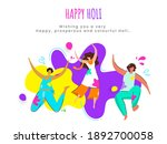 happy holi concept with... | Shutterstock .eps vector #1892700058