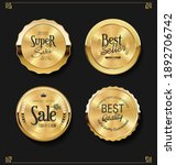 collection of golden badges... | Shutterstock . vector #1892706742