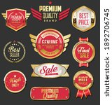 collection of golden badges... | Shutterstock . vector #1892706745