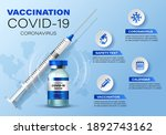 coronavirus vaccine vector... | Shutterstock .eps vector #1892743162