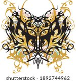 beautiful golden floral... | Shutterstock .eps vector #1892744962