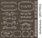 floral decorative borders ... | Shutterstock .eps vector #189275012