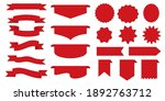 set of red label icons. red...   Shutterstock .eps vector #1892763712