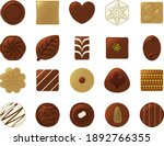 chocolate illustration set  ... | Shutterstock .eps vector #1892766355
