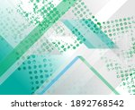 grunge green and grey tech... | Shutterstock .eps vector #1892768542