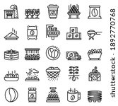 coffee production icons set.... | Shutterstock .eps vector #1892770768