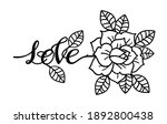 rose tattoo with the phrase... | Shutterstock .eps vector #1892800438