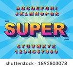 3d bold retro font. vintage... | Shutterstock .eps vector #1892803078