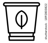 eco glass icon. outline eco... | Shutterstock .eps vector #1892803822