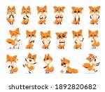 cute funny emotional fox set.... | Shutterstock .eps vector #1892820682