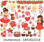 valentines clipart set. cute...   Shutterstock .eps vector #1892822218