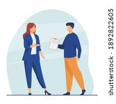 manager giving document to... | Shutterstock .eps vector #1892822605