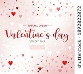 valentines day sale background...   Shutterstock .eps vector #1892822872