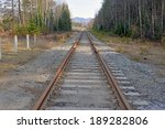 train tracks leading to the... | Shutterstock . vector #189282806