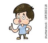 cartoon boy giving thumbs up | Shutterstock .eps vector #189283118