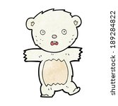 cartoon shocked polar bear cub | Shutterstock .eps vector #189284822