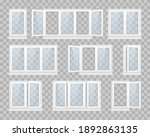 set of closed window with...   Shutterstock .eps vector #1892863135