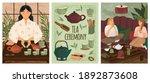 tea ceremony concept vector... | Shutterstock .eps vector #1892873608